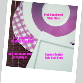 In My Kitchen : Pink Checkered Plates