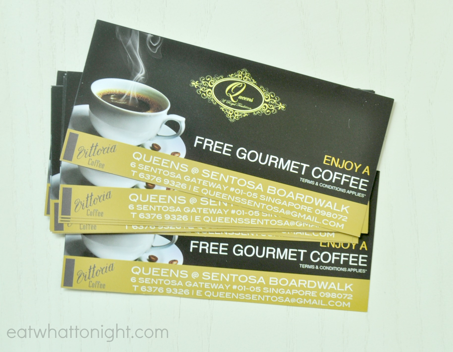 coffee vouchers