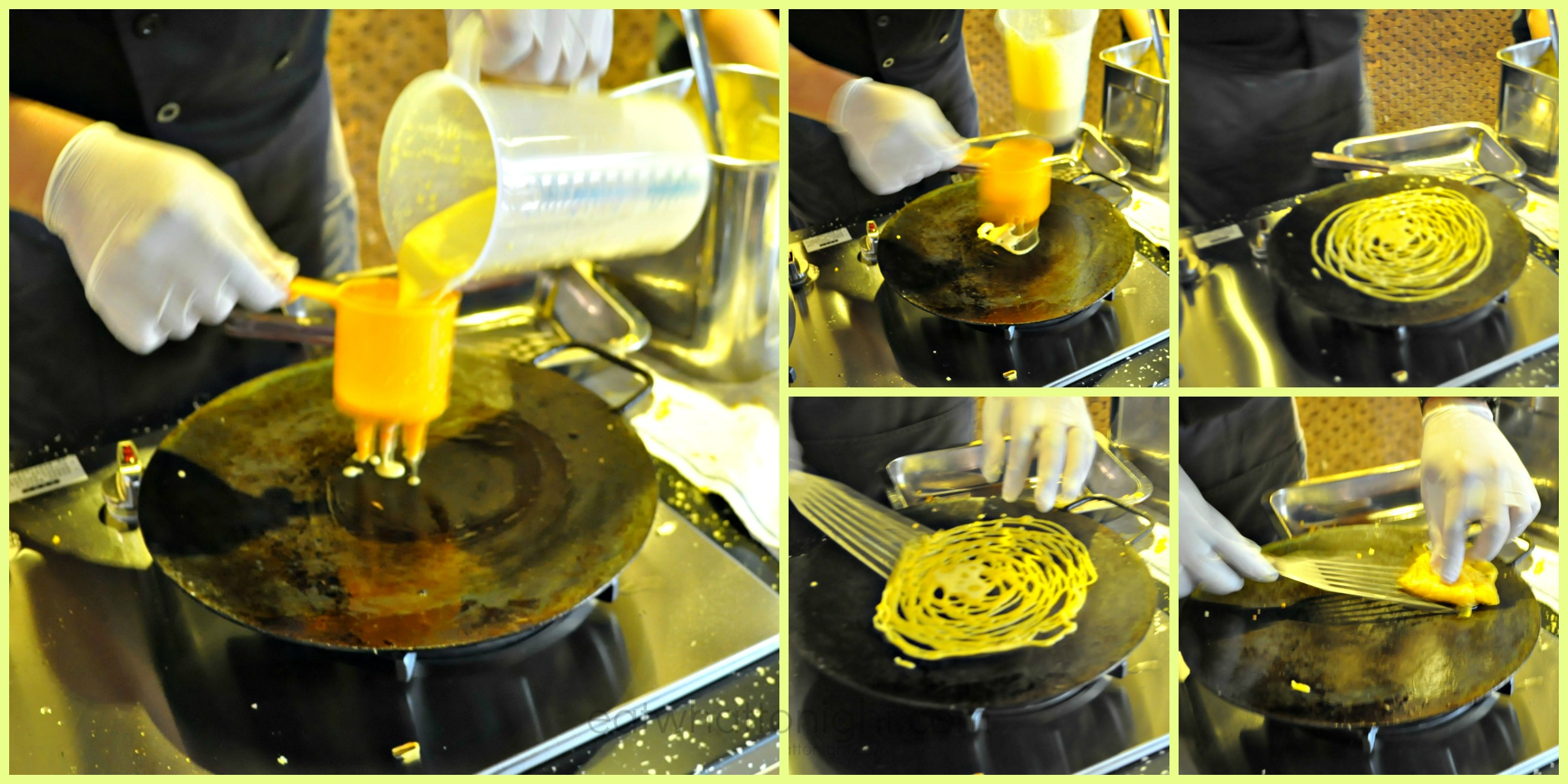 Roti Jala Making Collage