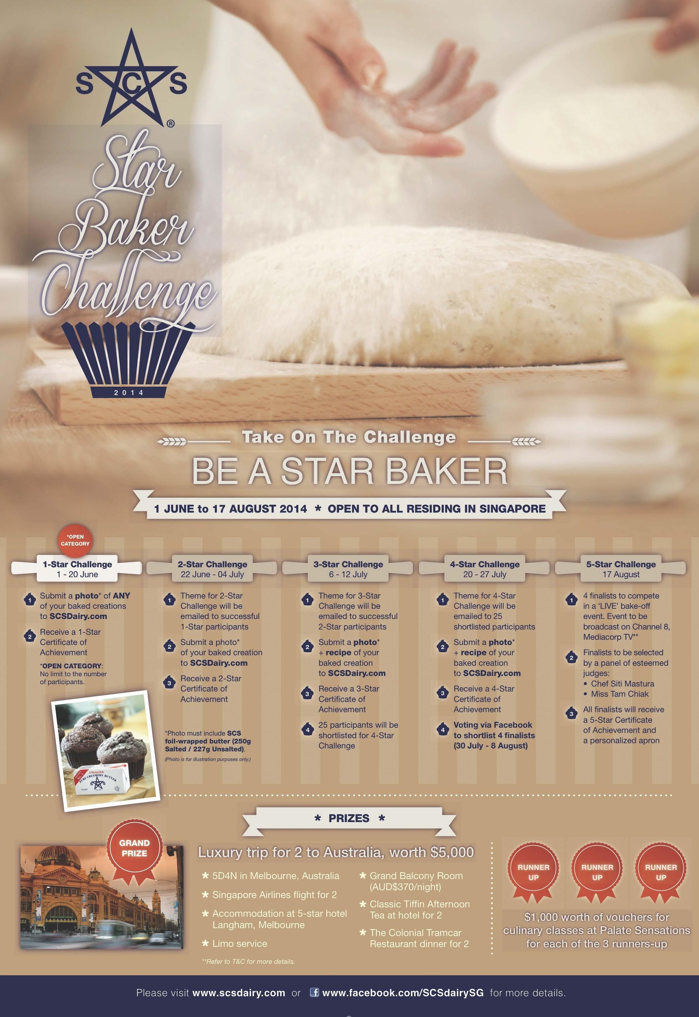 SCS Star Baker Challenge 2014 Poster