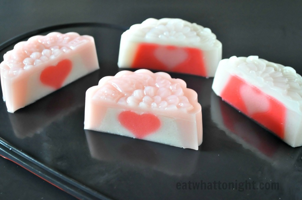 Of Hearts Flowers Amp Stars In The Jelly Mooncakes Eat