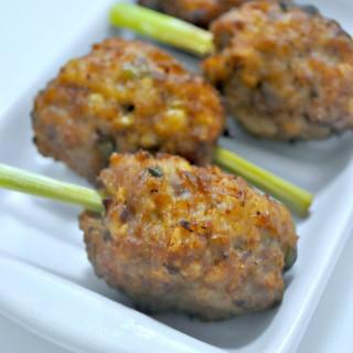 Lemongrass Meatballs Skewers