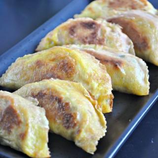 Egg Crepe Dumplings 蛋皮饺子