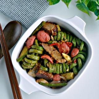 One Pot Dish : Roasted Pork and Bean Rolls 烧肉长豆一锅餐