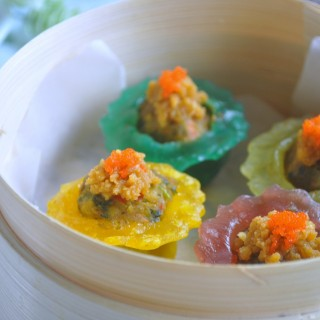 Ikea Veggie Balls Cook-off Challenge – Rainbow Vegetable Crystal Dumplings with Salted Egg Yolk Mash 彩虹蔬菜水晶角配咸蛋沙酱