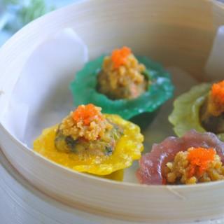 Ikea Veggie Balls Cook-off Challenge – Rainbow Vegetable Crystal Dumplings with Salted Egg Yolk Mash 彩虹蔬菜水晶角配咸蛋沙酱