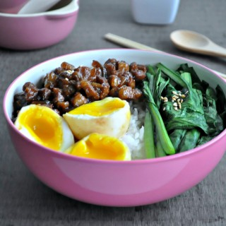 Taiwanese Braised Pork Rice with Lava Eggs 台湾卤肉饭
