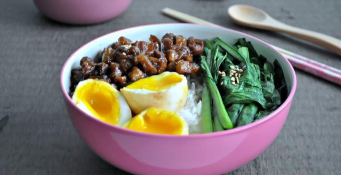 Taiwanese Braised Pork Rice with Lava Eggs 台湾卤肉饭