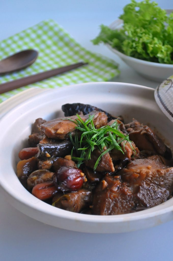 Stewed Chicken w Chestnuts & Mushrooms1