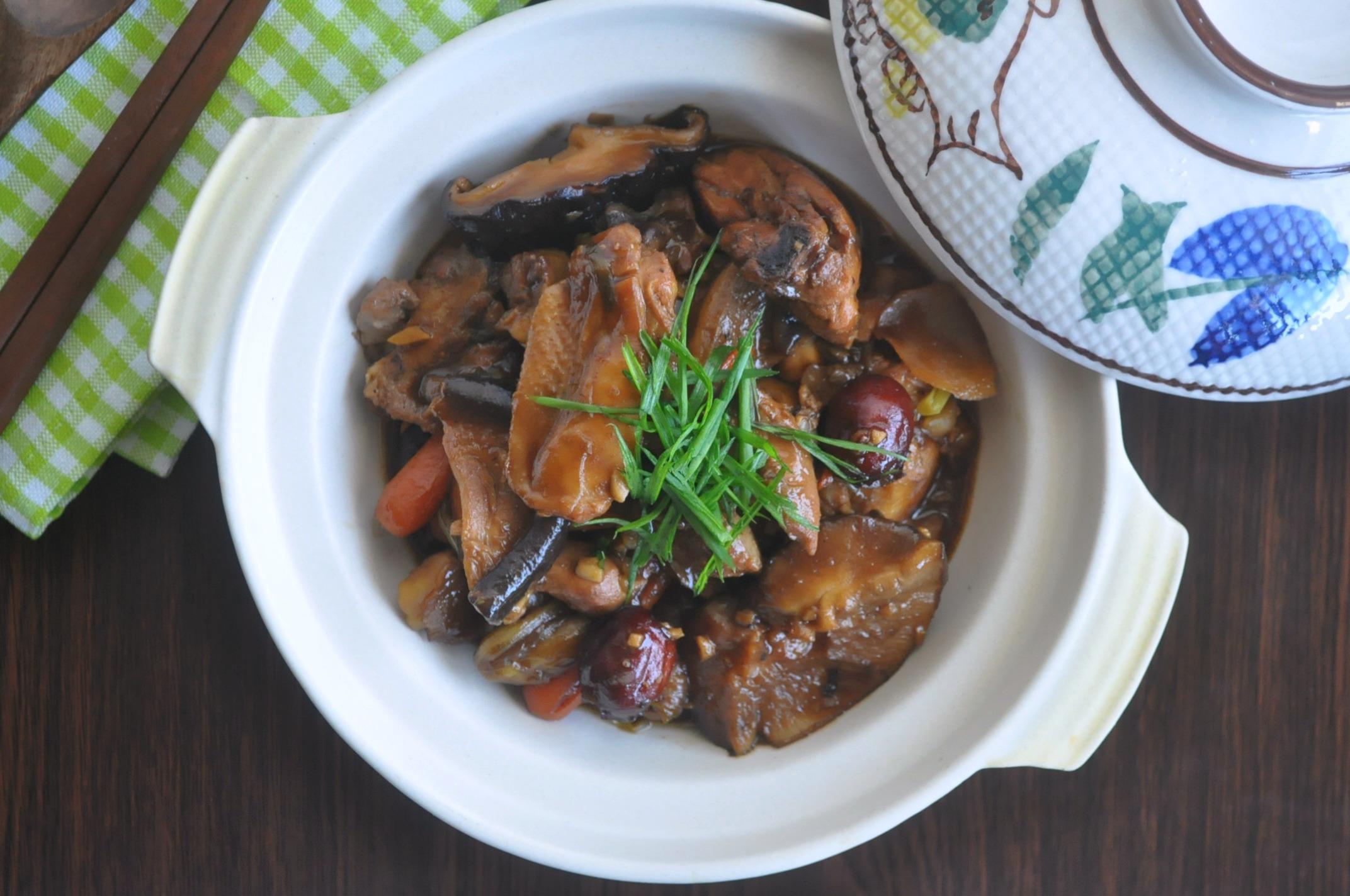 Stewed Chicken w Chestnuts & Mushrooms2