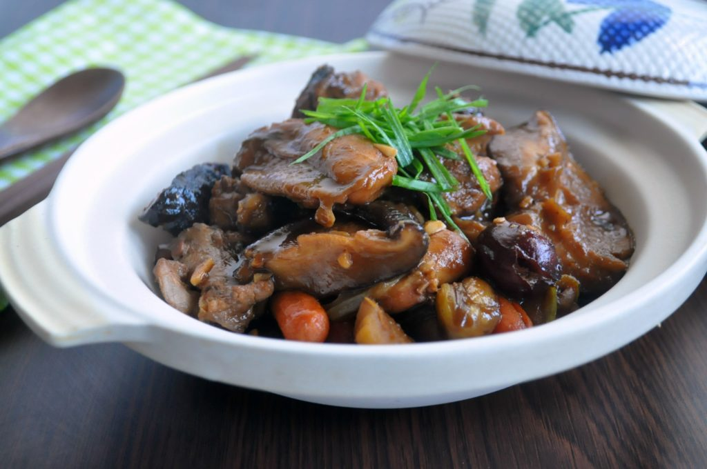 Stewed Chicken w Chestnuts & Mushrooms3