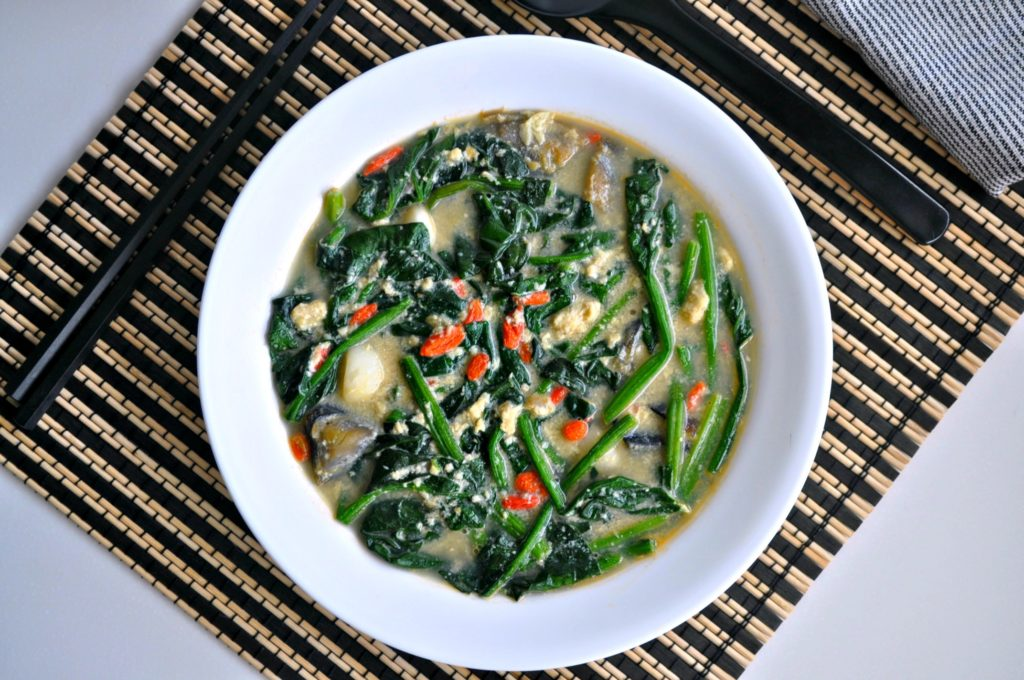 Tri Eggs Spinach in Superior Broth2