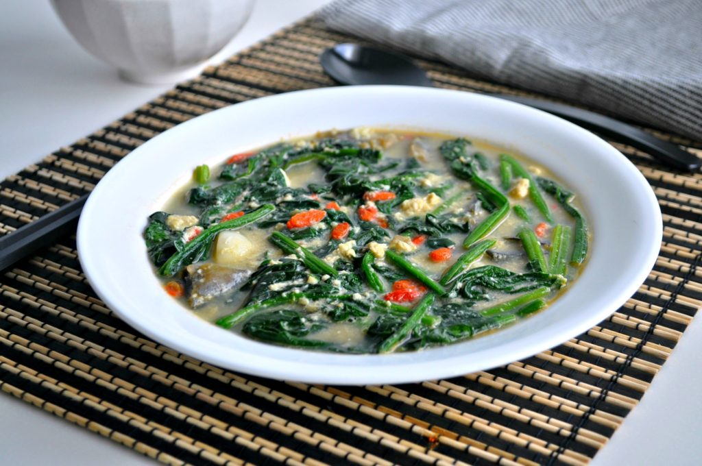 Tri Eggs Spinach in Superior Broth3