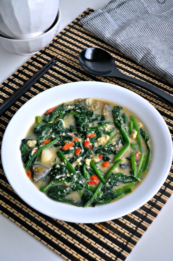 Tri Eggs Spinach in Superior Broth4