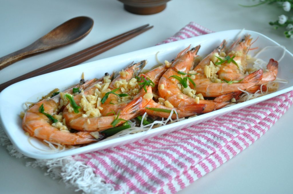 Steamed Prawns w Wine_2