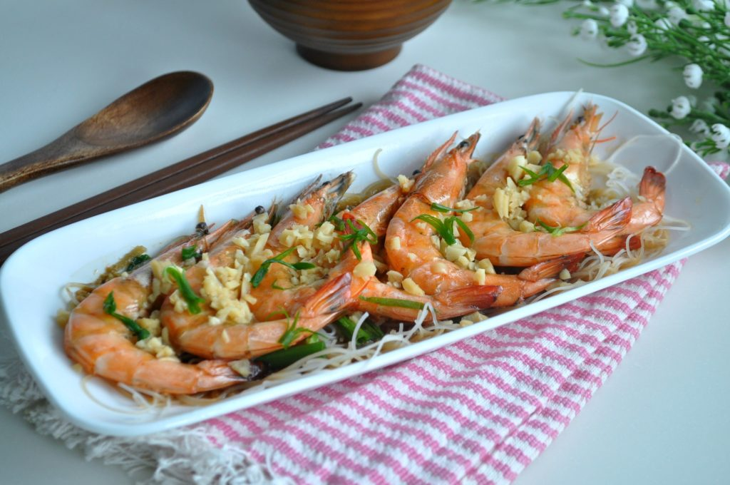 Steamed Prawns w Wine_3