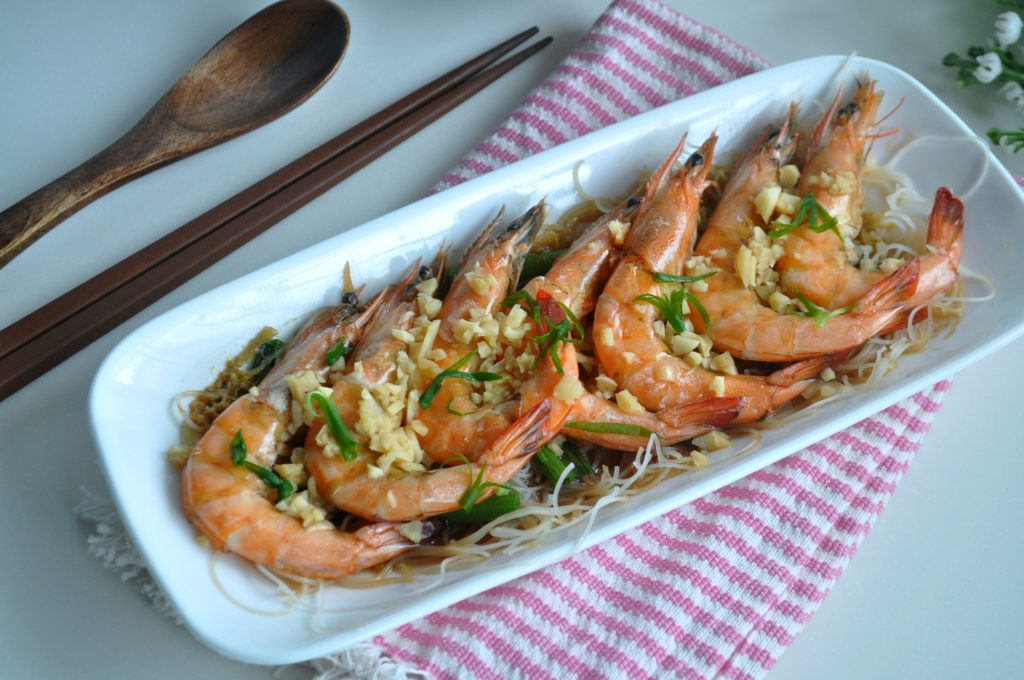 Steamed Prawns w Wine_5