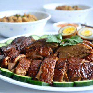 [GIVEAWAY] TEOCHEW BRAISED DUCK WITH YAM RICE RECIPE + 2 SETS OF CORELLE DINING WARE HAMPER WORTH S$100 EACH 潮州卤鸭芋头饭