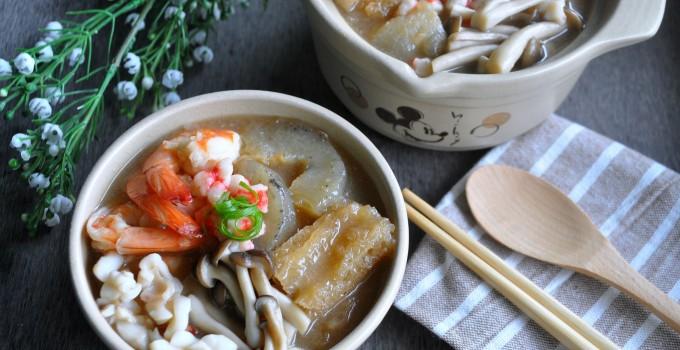 Fish Maw & Sea Cucumber Seafood Broth 什锦鱼鳔海参羹