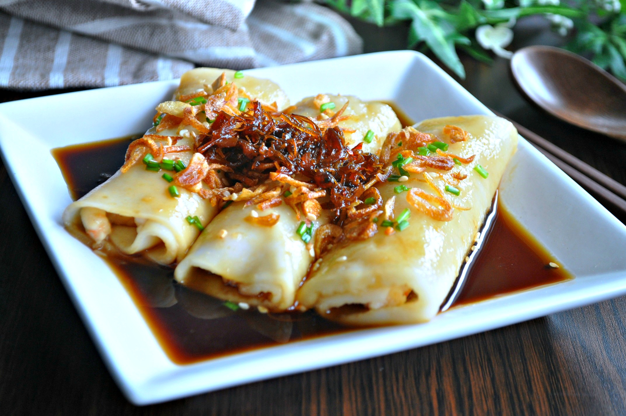 Chinese Style Home Decor Hong Kong Style Chee Cheong Fun 港式猪肠粉 Eat What Tonight