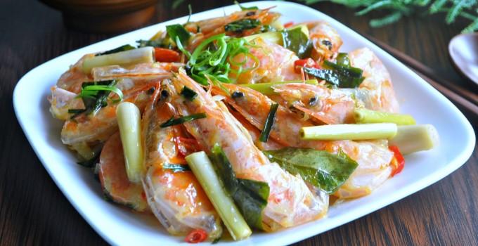 Lemongrass Butter Prawns 香茅牛油虾