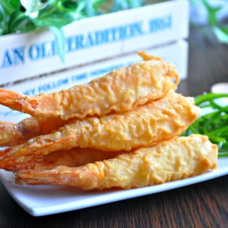Chinese Style Big Prawn Fritters 香脆大虾