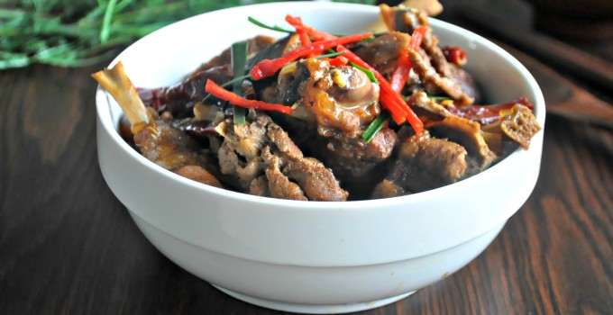 Spicy Stewed Duck with Shallots 香葱辣焖鸭