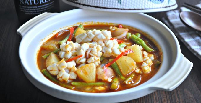 Tom Yum Assam Squids 东炎亚三鲜苏东