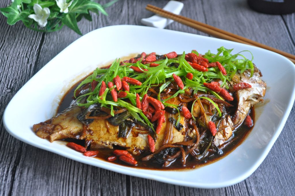 Spring Onion Braised Fish_3
