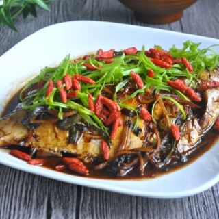 Spring Onion Braised Fish 葱烧鱼