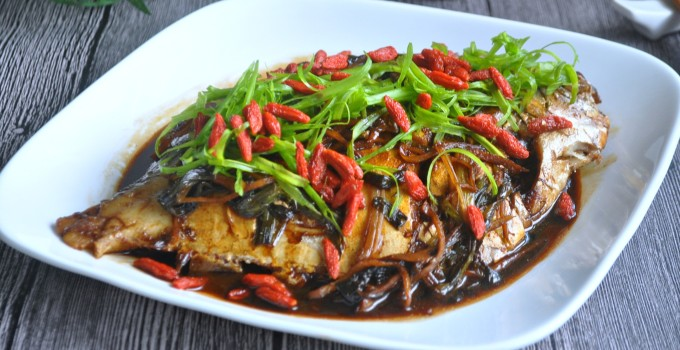 Spring Onion Braised Fish 葱烧鱼