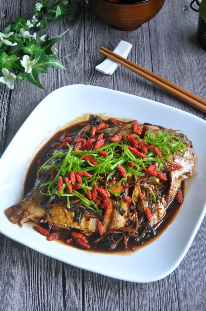 Spring Onion Braised Fish_5