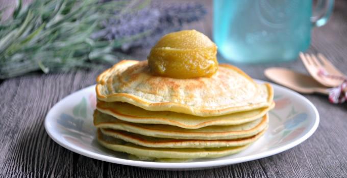 Pandan Pancakes with Corningware Retroflam 班兰松饼