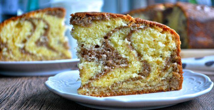 Easy Zebra Butter Cake 简易斑纹牛油蛋糕