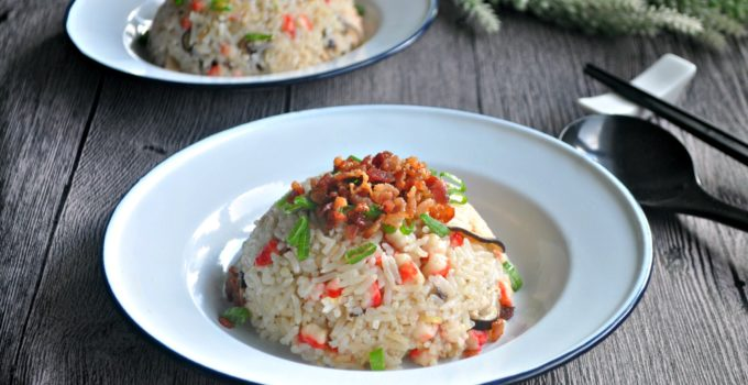 Bacon and Mushroom Rice 培根香菇饭