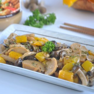 Grilled Mixed Mushrooms with Sesame Sauce 芝麻酱烤香菇