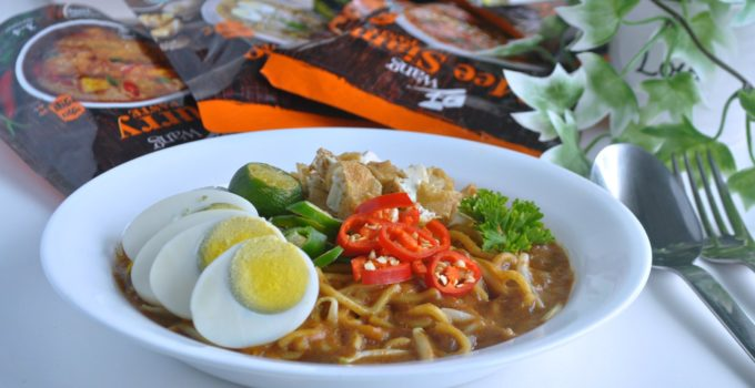Easy Mee Rebus using Wang Newly Launched Local Food Pastes